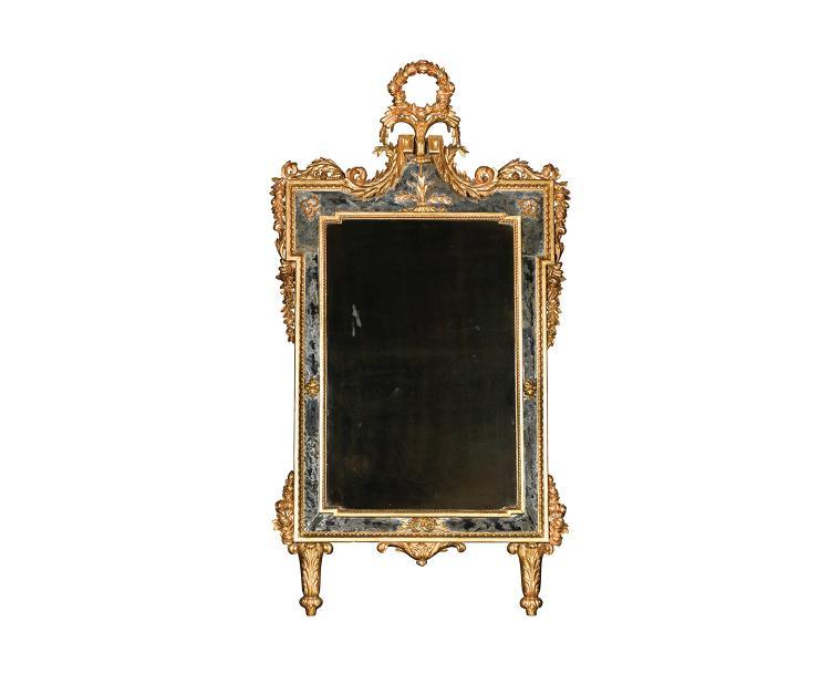 Miroir travail italien dans le style pi montais de la fin du for Pic de chix dans l miroir