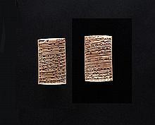 TABLETTE CUNÉIFORME  Art sumérien, vers 2030 avant J.C.  Matériau  Argile