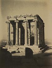 Attribué à Frédéric BOISSONNAS (1858-1946)   Temple de la Victoire, Athènes, au clair de lune, vers 1910