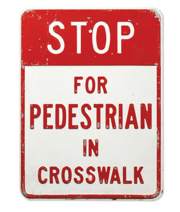 Plaque stop for pedestrian in crosswalk panneau de signa - Combien de panneau stop dans paris ...
