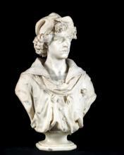 BUSTE D'HOMME Par Giovanni BROGGI (1853-1919)