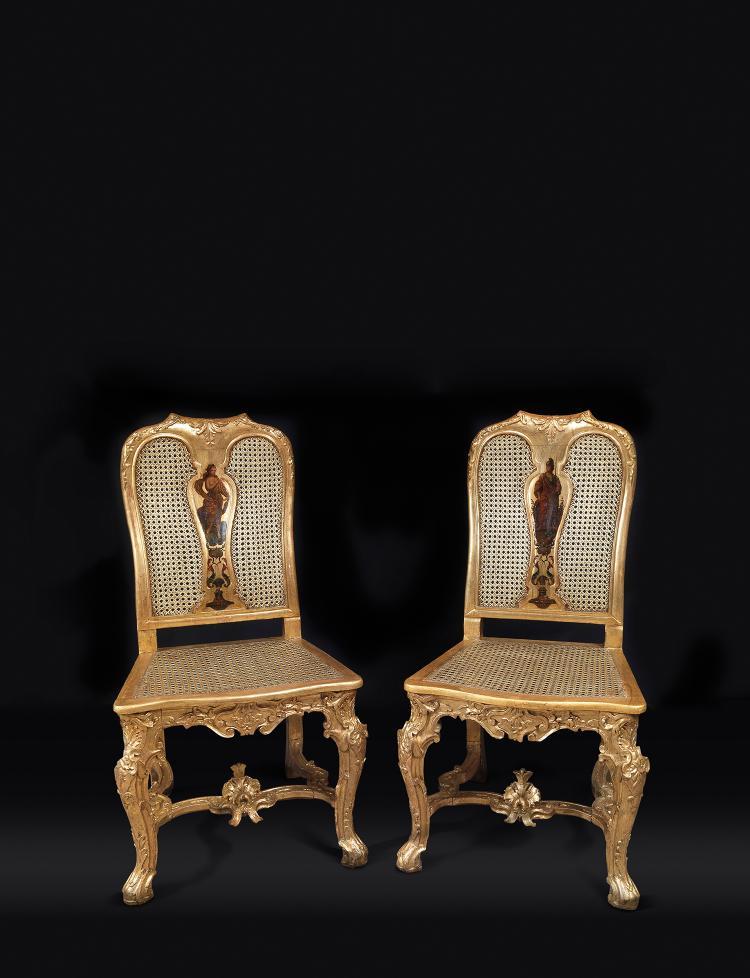 Exceptionnel mobilier de salon aux figures all goriques c for Cannage chaise paris