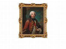 PORTRAIT D'HONORé-ARMAND, DUC DE VILLARS (1702-1770) Ecole française, Première moitié du XVIIIe siècle Matériau:Toile Etiquette au dos :