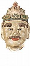 SUITE DE CINQ PORTRAITS DE DIVINITÉS Chine, époque Ming (1368-1644) MATÉRIAU Stuc polychromé H. 25 cm, L. 14 cm, P. 17 cm