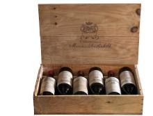 CHÂTEAU MOUTON ROTHSCHILD 1945 «Année de la victoire» 6 bouteilles Numéroté