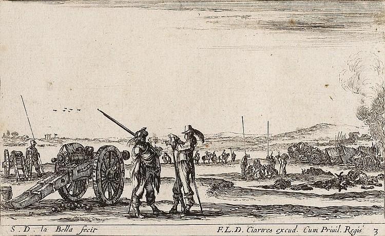 BELLA, STEFANO DELLA (1610 Florence 1664). Two