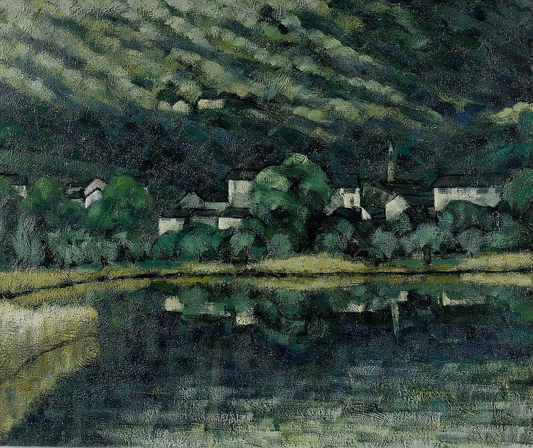 AGNELLI, FAUSTO(1879 Lugano 1944 )Landscape.Oil on