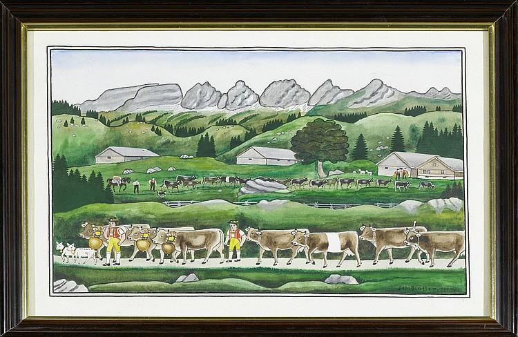BLATTER, JOHANNES(1895 Ebnat-Kappel 1975)Alpabzug.