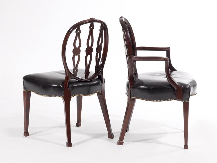 set of 8 chairs and 1 fauteuil. Black Bedroom Furniture Sets. Home Design Ideas