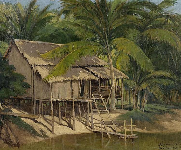 BRECQ, STÉPHANE (1894 - 1955) Siemriap. Cambodia.