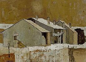 MONNIER, CHARLES (1925 - 1993) Ferme à Massongy.
