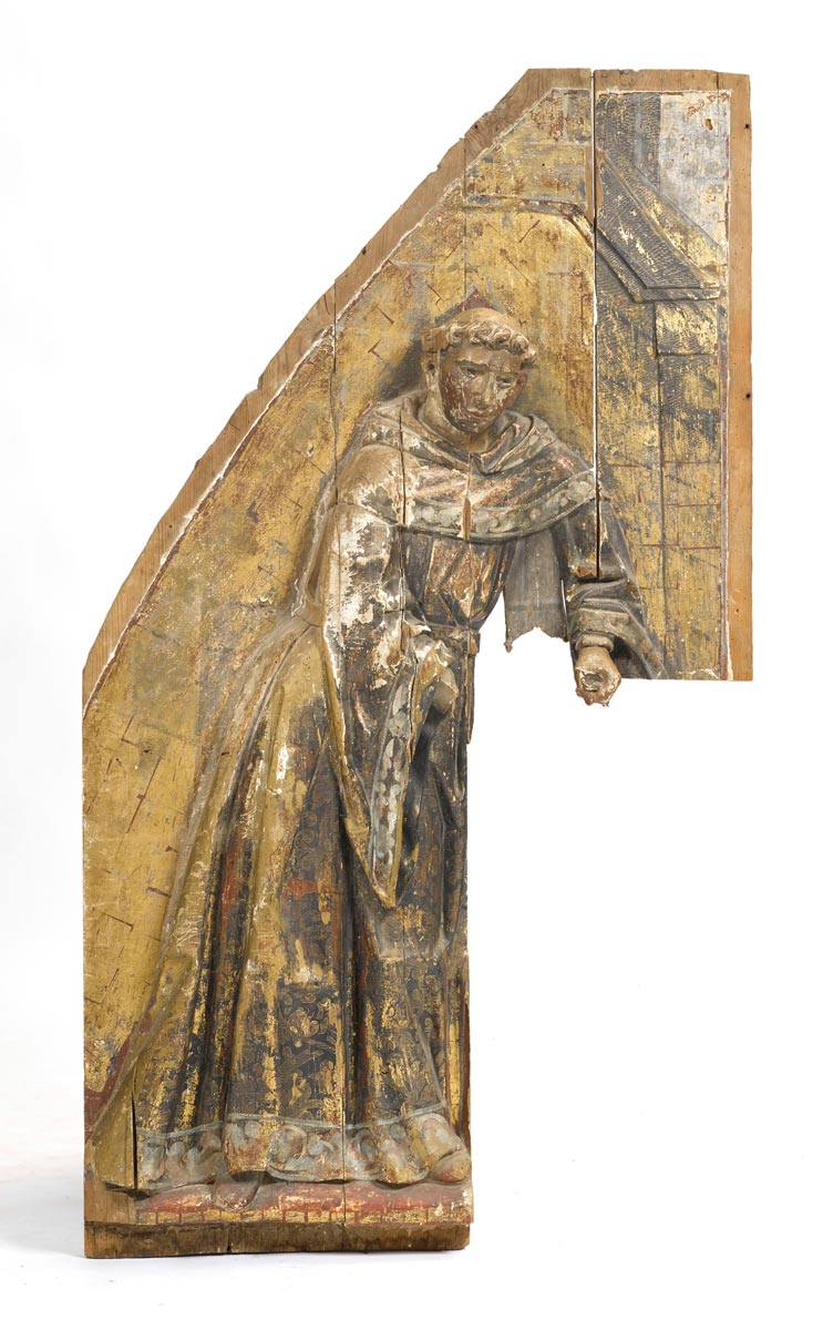 Altar fragment with depiction of a franciscan monk