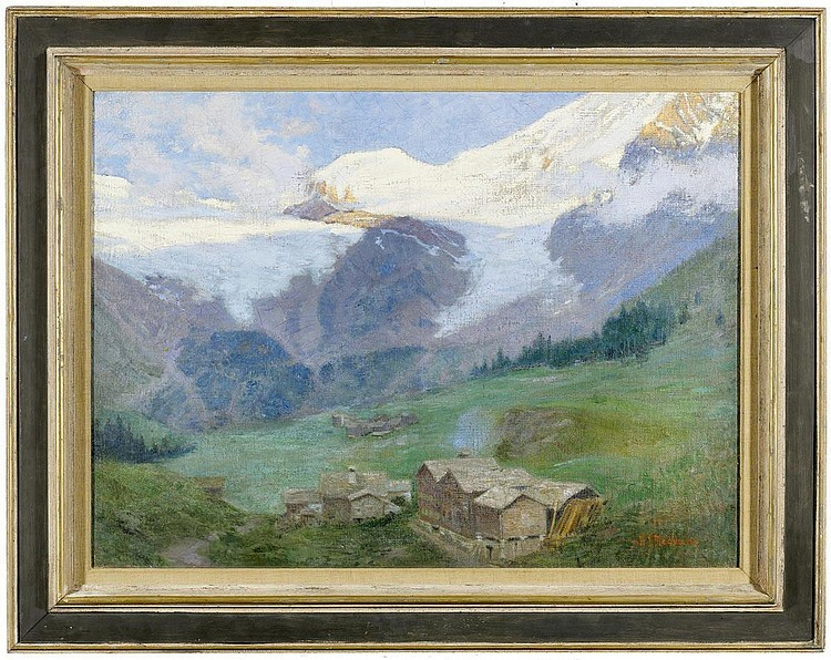 REDMOND, J.J. (20th century). Landscape with