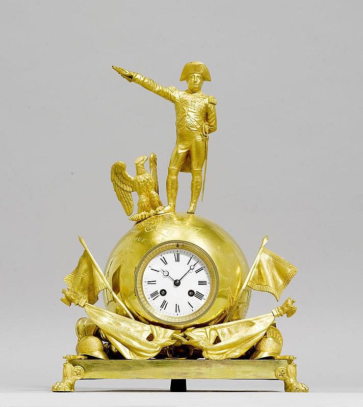 A GILT BRONZE MANTEL CLOCK, Napoléon III, Paris.