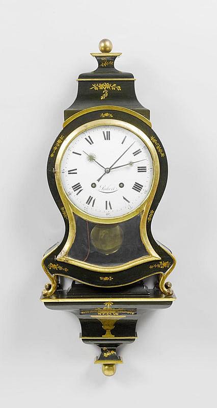 CLOCK ON PLINTH with alarm, Neuchâtel, circa 1800.