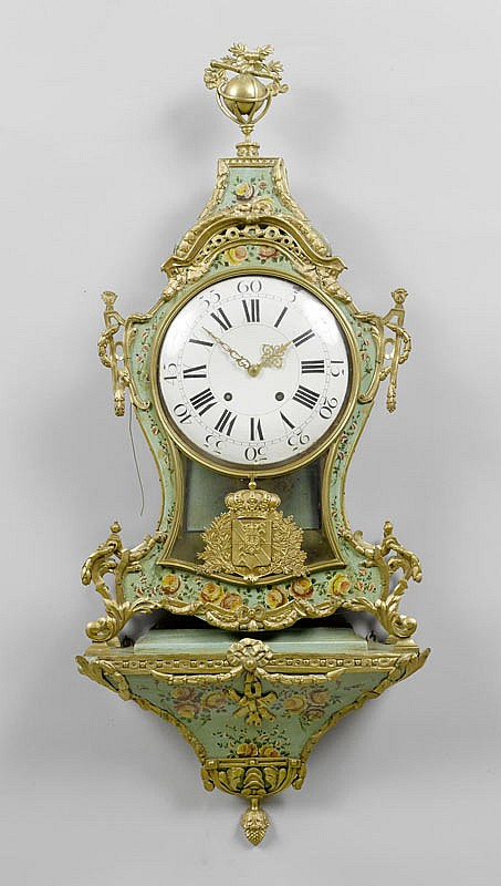 A PAINTED CLOCK ON PLINTH, Louis XVI, Neuchâtel,