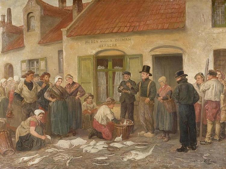 DILLENS, ALBERT (Antwerp 1844 - after 1875) Fish