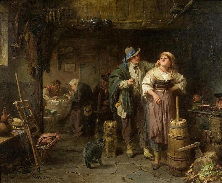 KINDLER, ALBERT (Allenbach 1833 - 1876 Meran) In