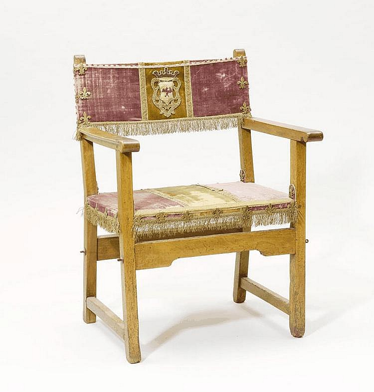 A RENAISSANCE STYLE ARMCHAIR, partly made of old