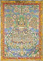 A LARGE THANGKA SHOWING TSONGKHAPA TSOGSHIN.