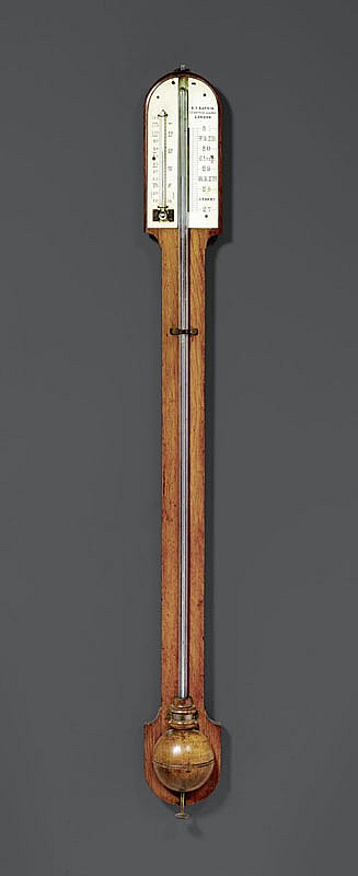 BAROMETER/THERMOMETER, England, 19th century.