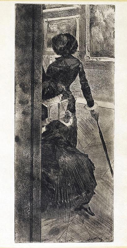 DEGAS, EDGAR (1834 Paris 1917) Au Louvre: la