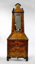 CORNER BUREAU CABINET WITH UPPER SECTION,