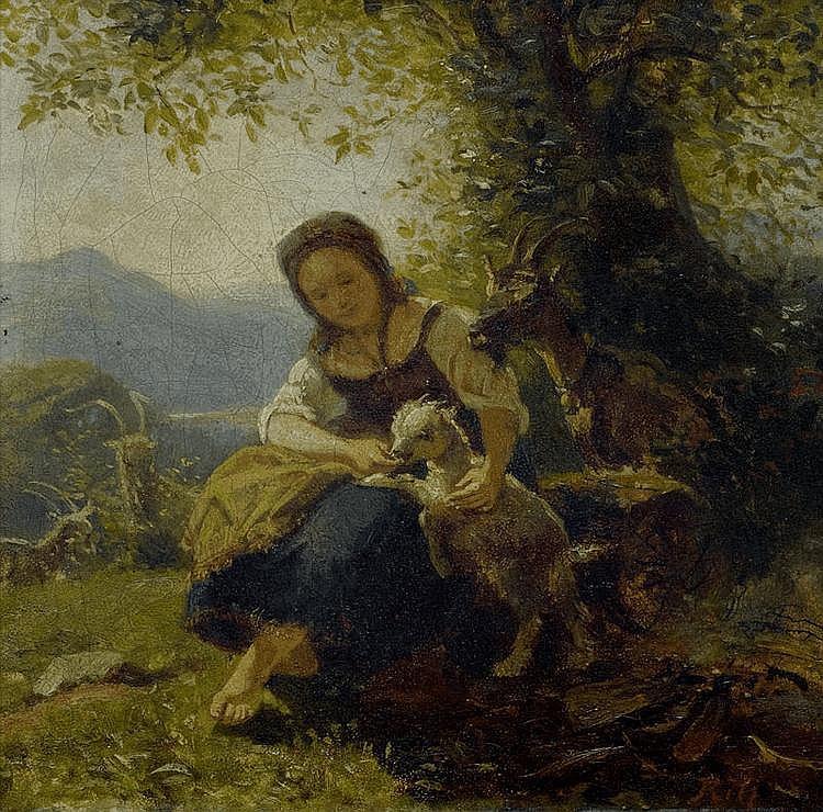 RITZ, RAPHAEL (Brig 1829 - 1894 Sitten) Maid with