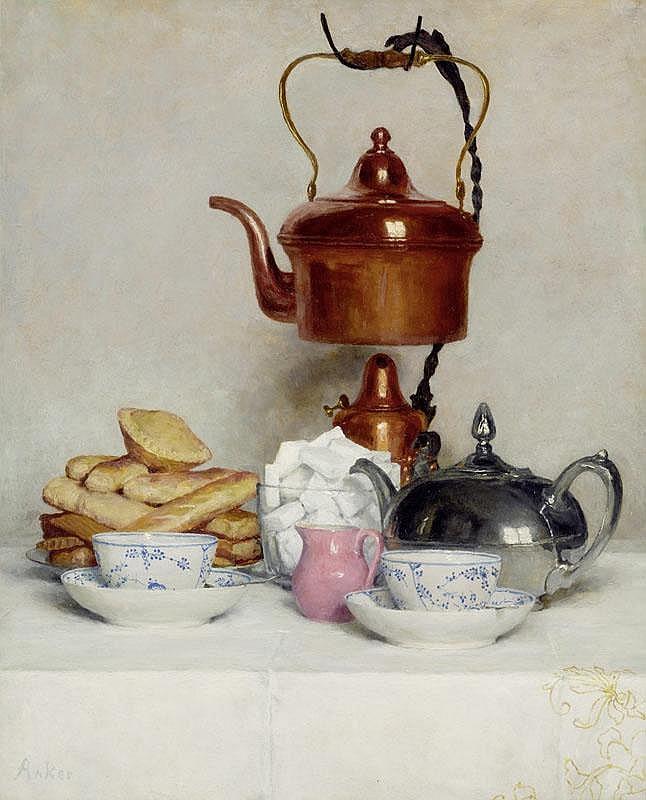 ANKER, ALBERT (1831 Ins 1910) Still life: Tea