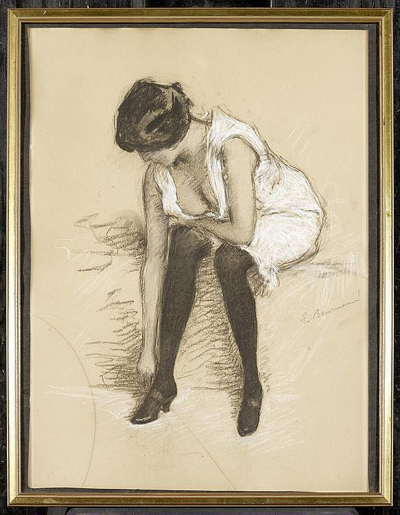 BEURMANN, EMIL. (1862 Basel 1950). The dancer.