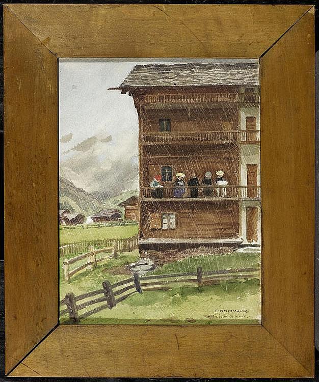 BEURMANN, EMIL. (1862 Basel 1950). Un jour de