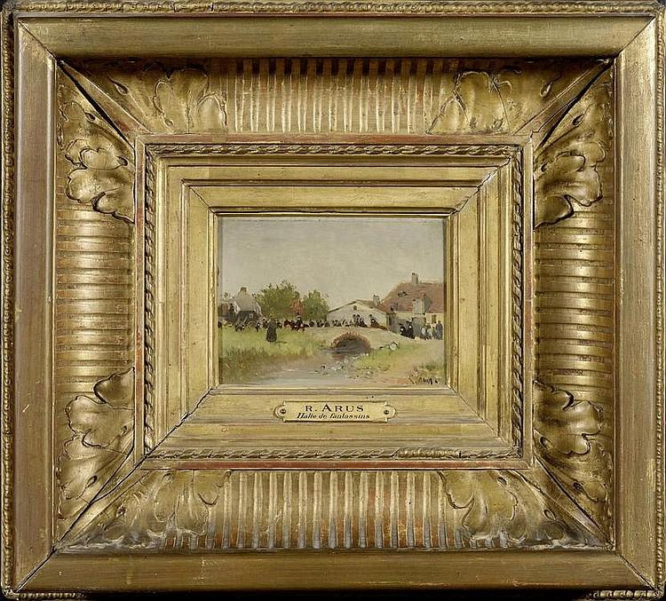 ARUS, RAOUL. (1848 Nîmes 1921). Halte de