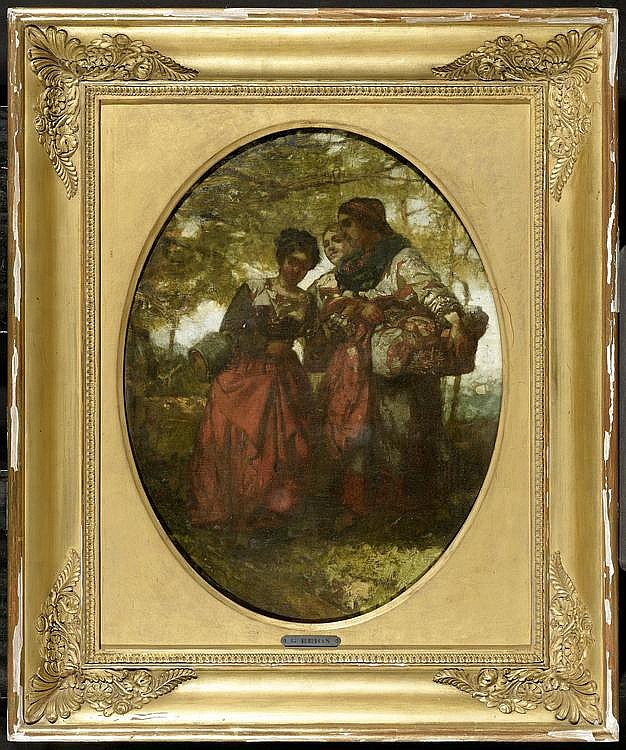 BRION, GUSTAVE. (Rothau 1824 - 1877 Paris). Three