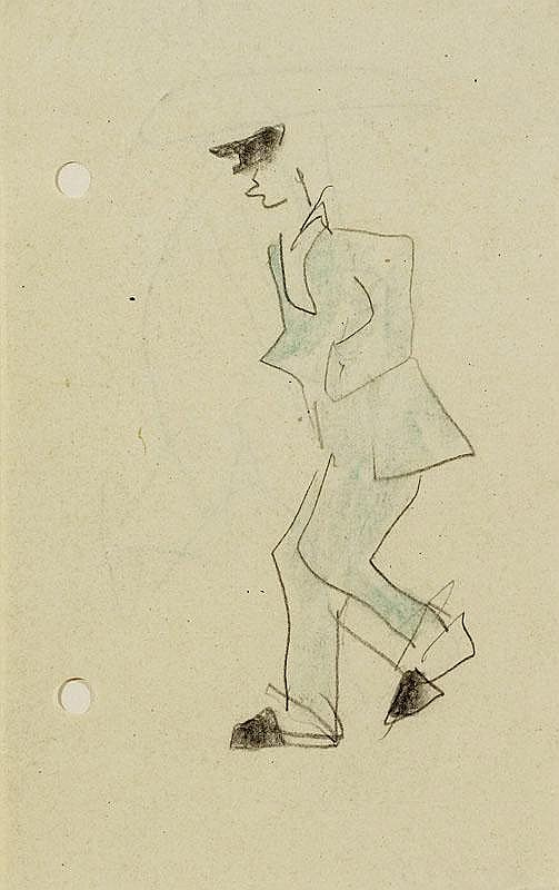 FEININGER, LYONEL (1871 New York 1956) Man in blue