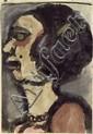ROUAULT, GEORGES (1871 Paris 1958) Tête de Femme.