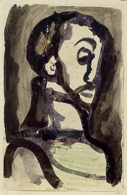 ROUAULT, GEORGES (1871 Paris 1958) Tête d'homme