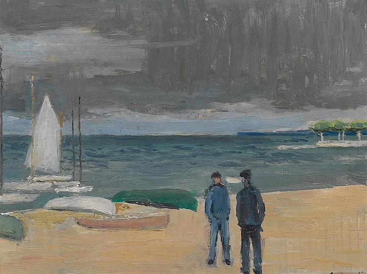 MARTIN, EUGÈNE. (1880 - 1954) The sailing boat.