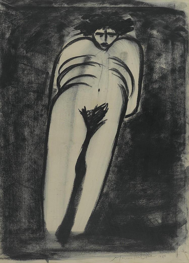 DEL RE, MARCO . (Born 1950 in Rome). Nude. 1986.
