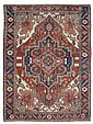 HERIZ antique.Blue and pink central medallion on a