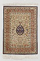 HEREKE SILK.Beige ground, finely patterned with