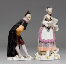 TWO COMMEDIA DELL'ARTE FIGURES 'PANTALONE' AND 'CORINE',