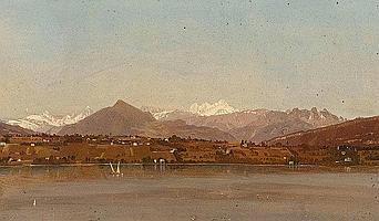 DUNANT, MARC(1818 Genf 1888)Ansicht auf den