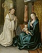 BRUGES, CIRCA 1500Maria Lactans with Saint