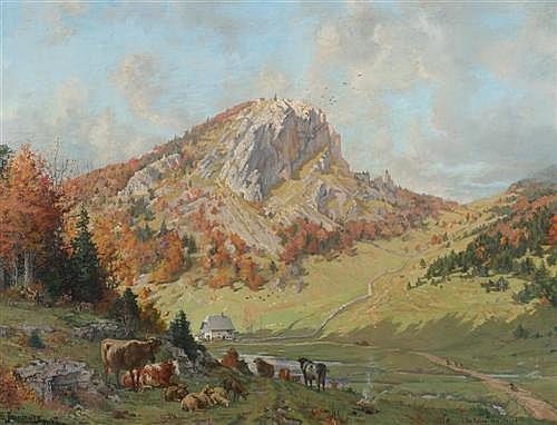 JEANMAIRE, EDOUARD (La Chaux-de-Fonds 1847 - 1916 Geneva) La Roche des Crods à la Corbatière - Sagne. 1884.