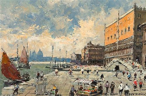 HELLMEIER, OTTO (Germany, 1908 - 1997) Venice. The Doge's palace.