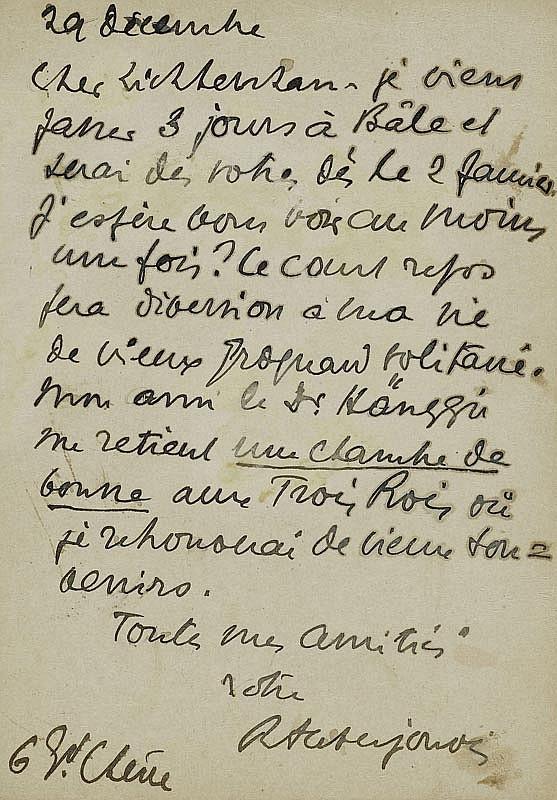 Auberjonois, René, Maler (1872-1957). Eigenh.