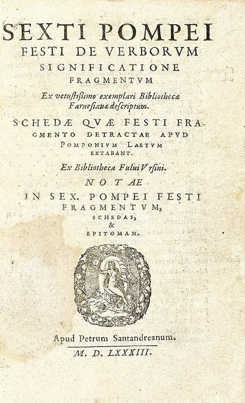 Festus, S. P. De verborum significatione