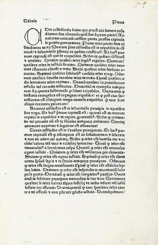 INKUNABELN - Guallensis, Johannes. Summa