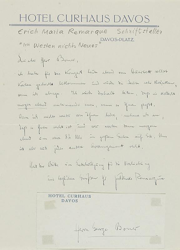 Remarque, Erich Maria, Schriftsteller (1898-1970).