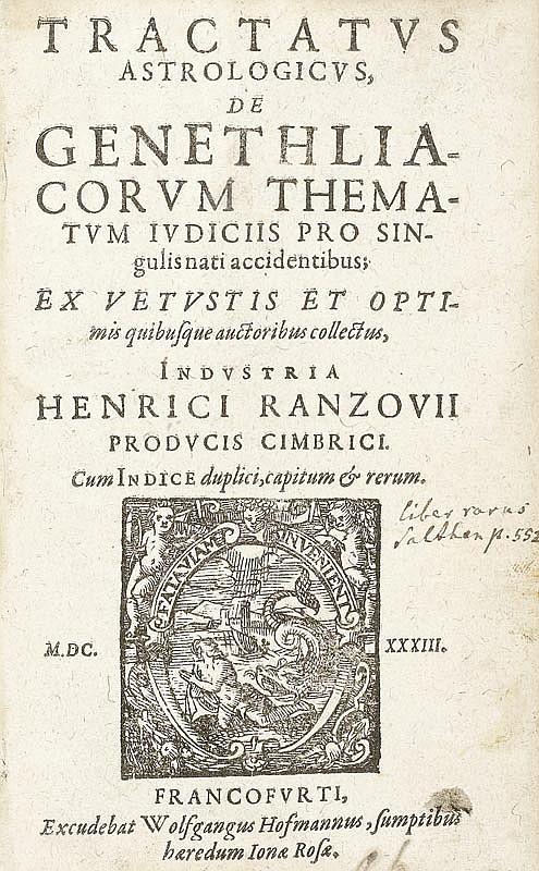 Rantzau, Heinrich. Tractatus astrologicus de